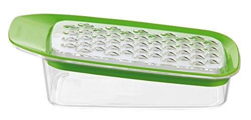 Tescoma 642744 RALLADOR MULTIFUNCION VITAMINO, De plástico, Acero Inoxidable, Verde, Transparente...