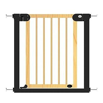 Porte de bébé ajustable extra large en bois, bois pour animaux de compagnie, porte pour chat avec barrière de chat pour escaliers de porte de maison 76-153cm de large (taille: largeur 146-153cm)