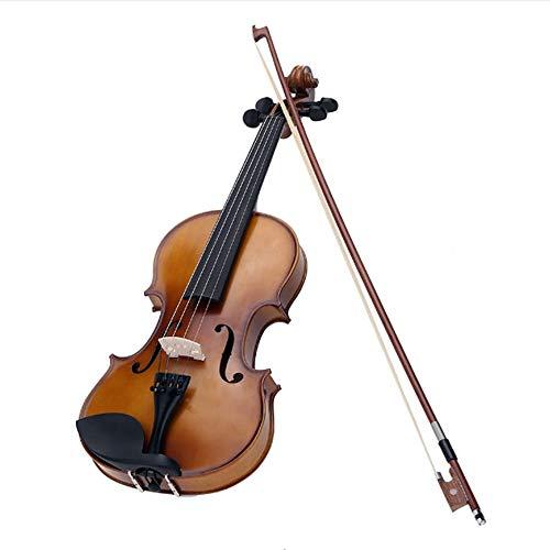 AITU Violine 4/4 Volle Größe Violine Saiteninstrument Kinder Anfänger Runde Stil Bogen (Kind Größe Violine)