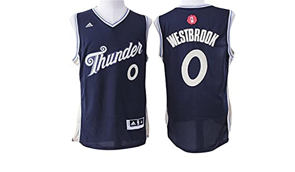 b923ca046d24 ... denmark thunder 0 russell westbrook navy blue 2015 16 christmas day swingman  jersey size l by