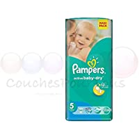 50 COUCHES PAMPERS ACTIVE BABY DRY taille 5