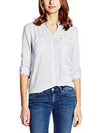 Hilfiger Denim Original Lightweight Shirt l/s, Camisa para Mujeres Regular Fit
