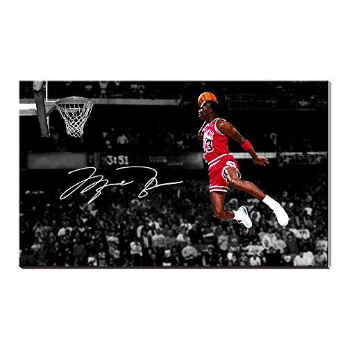 Karen Max Michael Jordan Autogramme, Flügel, Air Jordan, Decor Team Sport-Poster Ölgemälde, Kunstdrucke 40x60inch Frameless