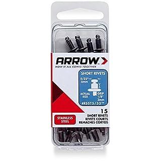 Arrow rsst5/32kurz Stahl 5/32Nieten, 15er Pack