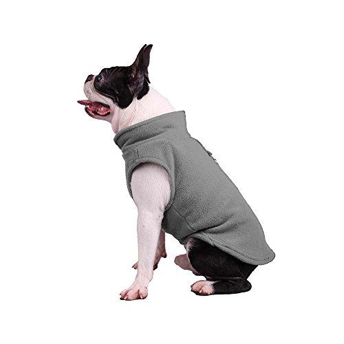 Pet Verdickte Fleece Mantel, Puppy Weste Hundegeschirr kaltem Wetter Winter Gepolsterte Outfit Warm Garment für Hunde