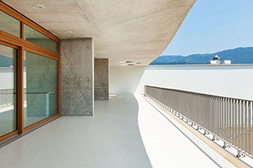 Balkonsanierung Balkonbelag & Terrassenbelag 2K Bodenbeschichtung in seidenglänzend RAL-Farben | BEKATEQ BK-300EP 2K Epoxidharz Beschichtung Bodenversiegelung Balkonfarbe Treppenbeschichtung | Bodenfarbe Balkonboden Farbe ABRIEBFEST, LEICHTE VERARBEITUNG, HOCH BELASTBAR (1KG, RAL7035 Lichtgrau)