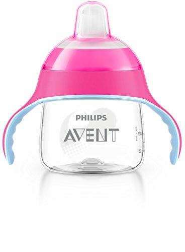 Philips Avent SCF751/07 Tazza con Beccuccio Morbido e Valvola Anti-Goccia, Brevettata, 200 ml, Rosa