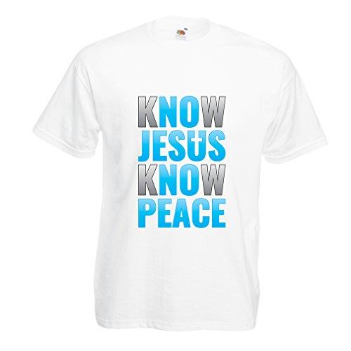 st Du Jesus, kennst Du Frieden! Jesus Rettet Euch! - Ostern - Auferstehung - Krippe, Christliche Kleidung (Small Weiß Mehrfarben) (Günstige Halloween Ideen Für Paare)