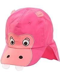 Galeja Kinder Baby Schirmmütze mit Nackenschutz Jungen Cappy Mädchencap 3 Farben Gr. 45/46 - 51/52 Sommermütze