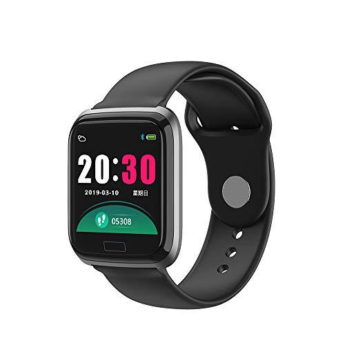 Bluetooth Smart Watch, Unterstützung Herzfrequenz Blutdruck, Blutsauerstoff-Gesundheitsüberwachung und andere Funktionen, IP67 wasserdichtes Sportarmband,Black