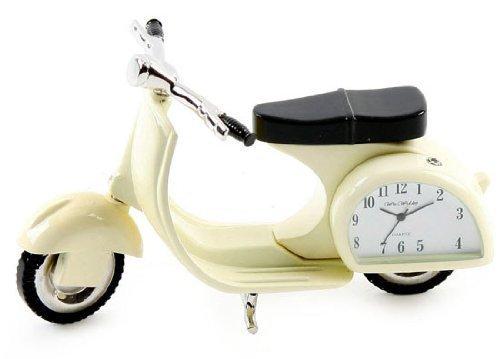 Miniature Clock - Vespa Scooter Cream Colour