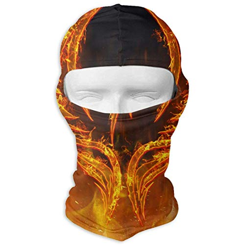 Vidmkeo Red Fire of Phoenix Bird in Flames with Wings Balaclava Face Mask Hood for Women Men Extra Warmth Hiking Motorcycling Neck Mask