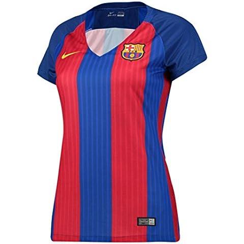 Nike Fcb W Ss Hm Stadium Jsy - Camiseta manga corta Línea F.C. Barcelona para mujer, color azul, talla