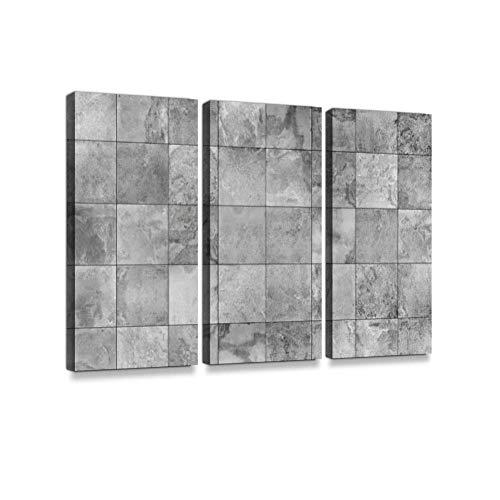 Keramik Schiefer Fliese (Schiefer Fliesen Keramik Nahtlose Textur Druck auf Leinwand Wand Kunstwerk Moderne Fotografie Home Decor einzigartiges Muster gestreckt und gerahmt 3 Stück)