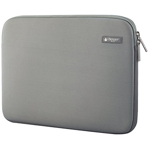 iBenzer - Deluxe Laptop-Hülsen-Beutel-Abdeckungs-Fall für alle 15-Zoll-Laptop-Computer - Macbook Pro 15 '' / Macbook Pro 15 '' mit Retina-Display (Grau-BH-MP15GY)