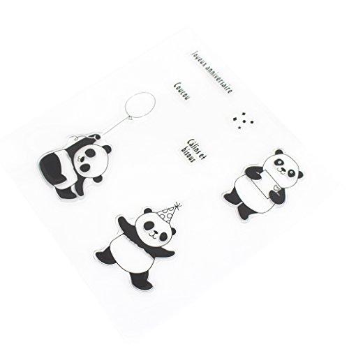 llwei258 süßer Panda Siegel, transparenter Stempel, Silikondichtungen, Scrapbook-DIY Basteln Dekoration
