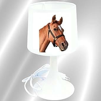 Lampe de chevet ou à poser enfant cheval alezan