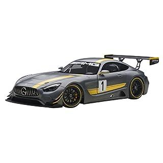 AUTOart 81530–Mercedes Benz Amg Gt3Presentation Car–1: 18Scale–Grey/Yellow