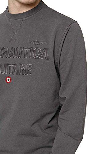 Aeronautica Militare Herren Kapuzenpullover Round Neck Linea Fashion Underwear Grigio (Dark Grey)