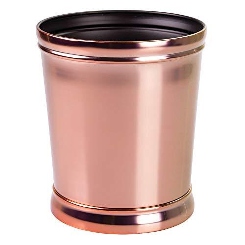 mDesign Mülleimer - optimal als Papierkorb oder Abfalleimer - für Küche, Bad und Büro - modernes Design und hochwertige Materialien - roségold
