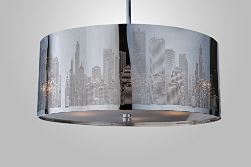 xxl skyline luxus h ngelampe h ngeleuchte new york deckenlampe lampe 50cm lounge. Black Bedroom Furniture Sets. Home Design Ideas