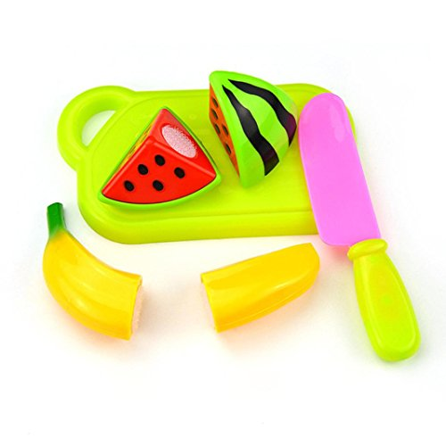 Xshuai 4 Teile / satz Schneiden Obst Gemüse Pretend Play Kinder Kid Pädagogisches Spielzeug (C) Kleinkind-mädchen-besen-set
