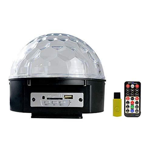 YXXHM- Bühnenbeleuchtung 9 Farbe MP3 Crystal Magic Ball Projektionslampe Nacht Ktv Flash 蹦 Di Bunte Sterne Lichter Mp3 Crystal