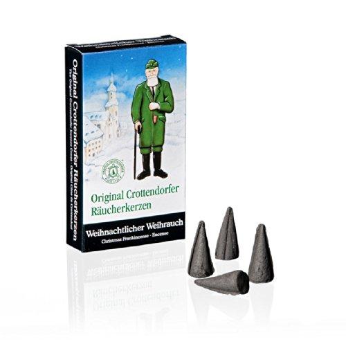 """Crottendorfer 1001 Original Räucherkerzen \""""Weihnachtlicher Weihrauch\"""" 24 Stück, Größe M"""