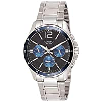 كاسيو ساعة رسمية لل رجال انالوج بعقارب ستانلس ستيل - MTP-1374D-2A