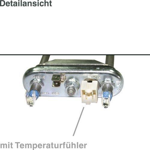 daniplus© Heizelement, Heizung 1950W, 230V mit Temperaturfühler NTC für Waschmaschine Ersatz für AEG Electrolux 132534700/1 -