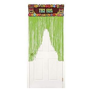 Cortina para puerta con diseño hawaiano de neón, de Amscan International (242057; 96 cm x 1,37 m)