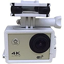 Cewaal Titular de la cámara del deporte del soporte del montaje del capítulo con Gimble cardán Para Syma X8C X8W X8G X8 RC Quadcopter Drone Blanca