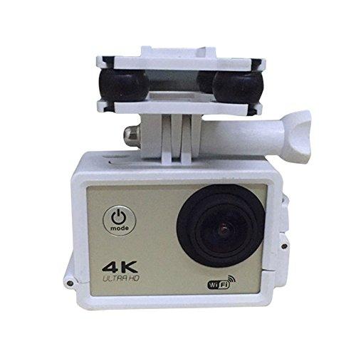 Cewaal Joyousness-Kamera-Halter Halterung Rahmenhalterung mit Gimble / Gimbal Für Syma X8C X8W X8G X8 RC Quadcopter Drone Weiß