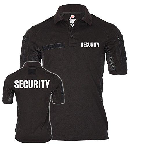 Tactical Polo Security Sicherheitsdienst Ordner Shirt Uniform Bekleidung Objektschutz Wachschutz Wachdienst #21618, Größe:M, Farbe:Schwarz