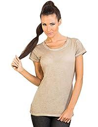 TONI - T-shirts à manches courtes en coton pur de Beige, par GEAR