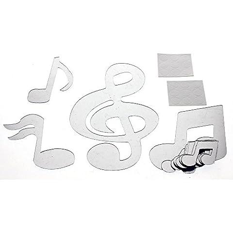 HuntGold notas musicales extraíble Arte Espejo pared del hogar de la etiqueta engomada