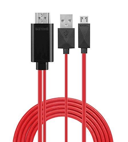 Handy zu TV Kabel, phoebe1686,5Füße 11Pin MHL Micro-USB auf HDMI Adapter Kabel 1080p HDTV für Samsung Galaxy S5/S4/S3/Note 2/Note3Galaxy Tab 38.0, Tab 310.1, Tab PRO, GALAXY NOTE 8, Note Pro 12.2 (Klicken Sie Auf Und Spielen Tablet)