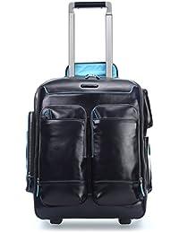 "Trolley-mochila small porta ordenador 15""/iPad®Air/Air2 | Piquadro Blue Square | CA3797B2-Negro"