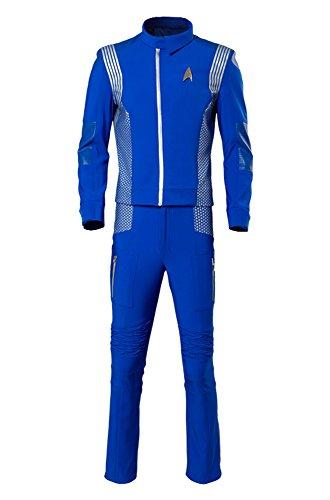 y Kostüm Blau Wissenschaft Crewman Uniform Herren L ()