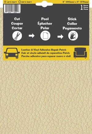 Pelle Patch Pièce adhésive de réparation de Cuir et Vinyle (Crème)