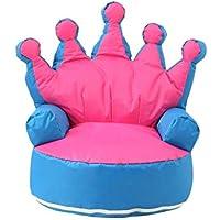 Preisvergleich für YJchairs Sitzsack Krone - Indoor Oder Outdoor Fauler Sofa Stuhl Gemütlich Weich (Farbe : Blue-Pink)