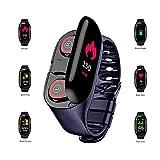 ZQshoub Montre GPS en Cours d'exécution, Moniteur de Tension artérielle ECG avec Compteur de Calories Montres intelligentes pour...
