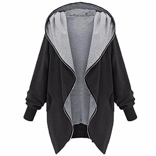 Lose Baggy Frauen Jugendlich Normallack Kimono Dolman Lange Hülse Hoodies-Manteljacke (Lange Dolman)