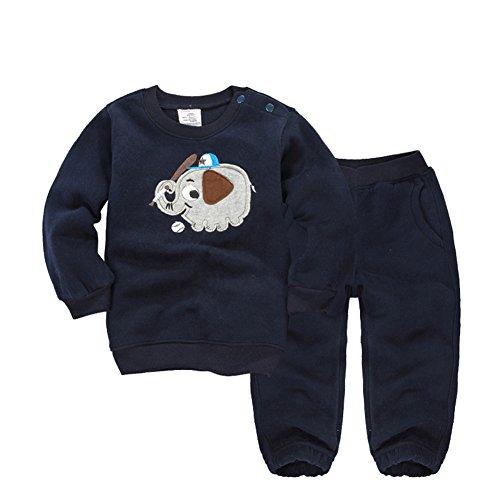 Baby 2 st¨¹cke Langarm Fleece Sport Sweatershirt Set Jungen M?dchen Tier Partten Tops und Hosen Outfits Sets Herbst Kleidung (Neugeborenen Gerber Onesies)