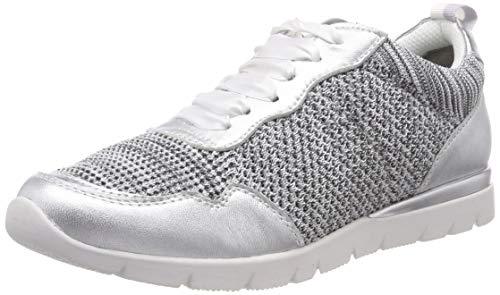 Jana 100% comfort Damen 8-8-23615-22 Derbys Grau (Grey/Silver 212), 40 EU