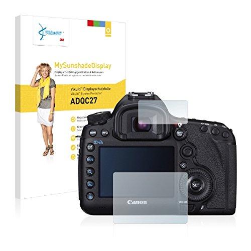 Vikuiti ADQC27 Displayschutz Schutzfolie Canon EOS 5D Mark III (Kristallklar und Reflexmindernd, Blasenfreie Montage, Passgenauer Zuschnitt)