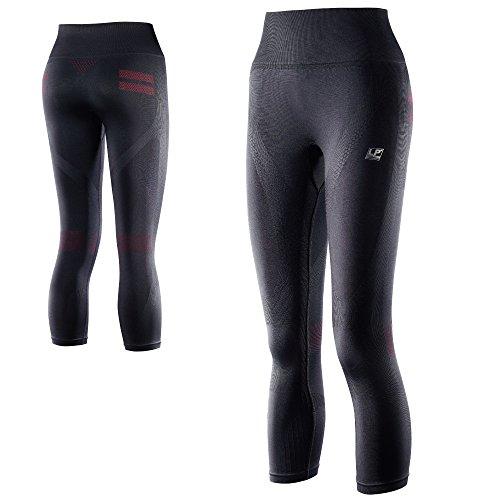 LP Support 280Z EmbioZ Damen Funktions-Leggins - Leg-Support - Fitness- und Laufhose - Funktionsunterwäsche für Damen, Größe:S, Farbe:schwarz