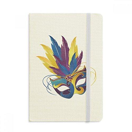 DIYthinker Blaue Feder-Maske Glückliche Karneval von Venedig Notebook Stoff Hard Cover Klassisches Journal Tagebuch A5 A5 (144 X 210mm) Mehrfarbig