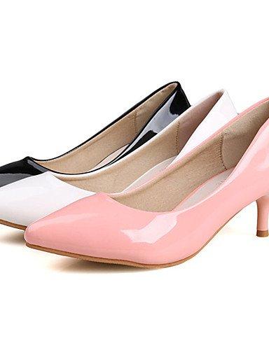 WSS 2016 Chaussures Femme-Décontracté-Noir / Rose / Blanc-Talon Aiguille-Talons-Talons-PU pink-us5 / eu35 / uk3 / cn34