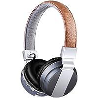 Auriculares Diadema con Micrófono y Bluetooth 4.0 Auricular Inalámbricos con Sonido Estereo 4 LED Indicatores FM Radio TF card para iPhone PC Mac TV Juegos